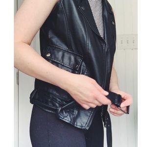 Forever 21 Jackets & Coats - Biker Vest- Pleather
